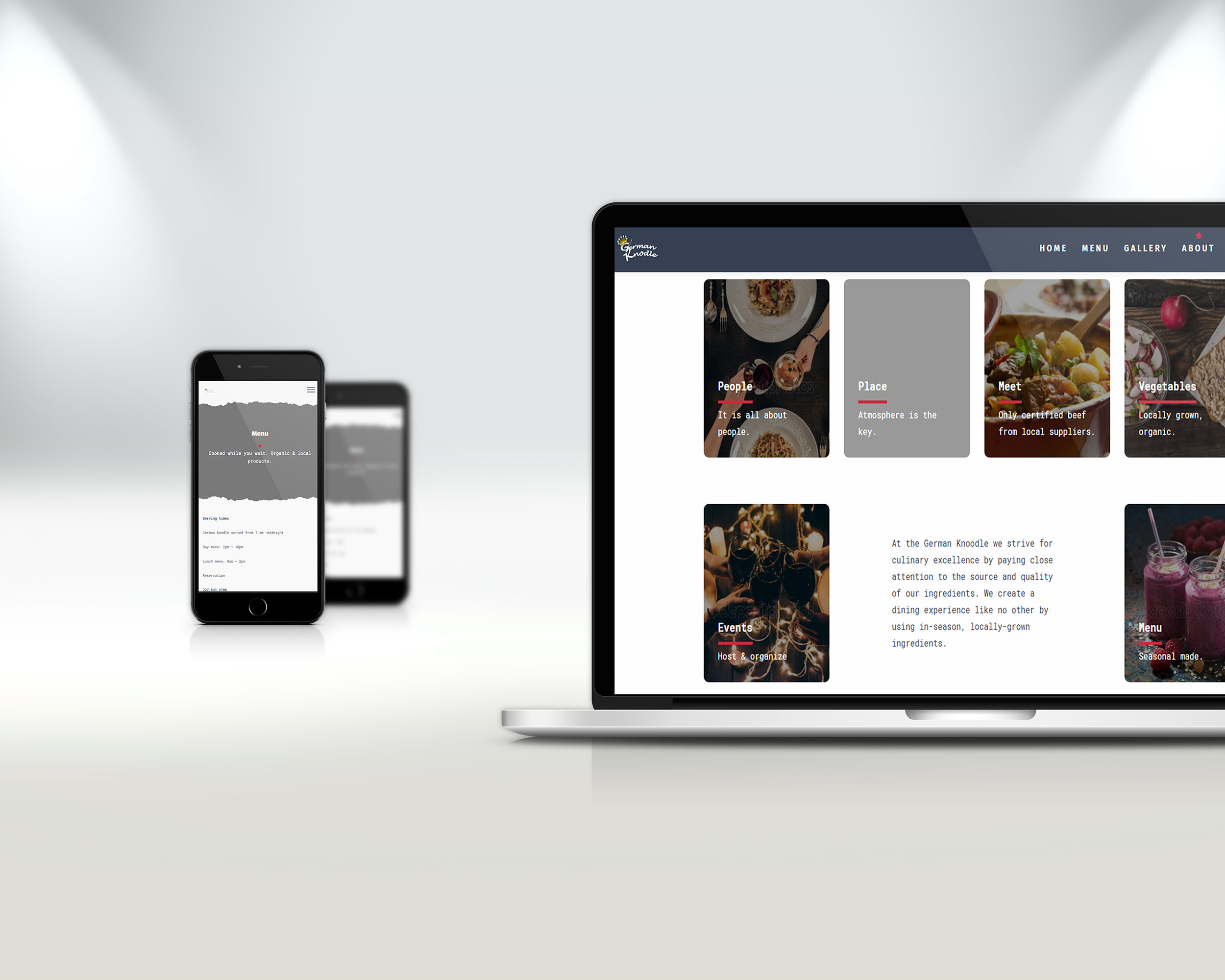 Izrada sajta za restoran u Americi