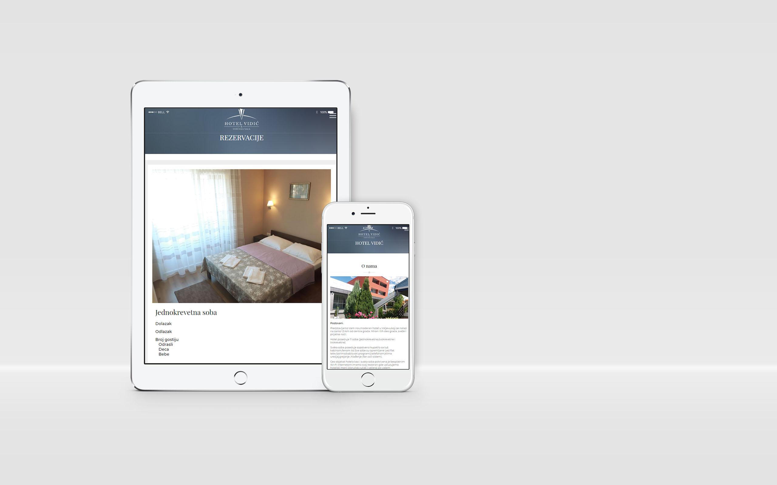 Izrada web sajta Hotela Vidic