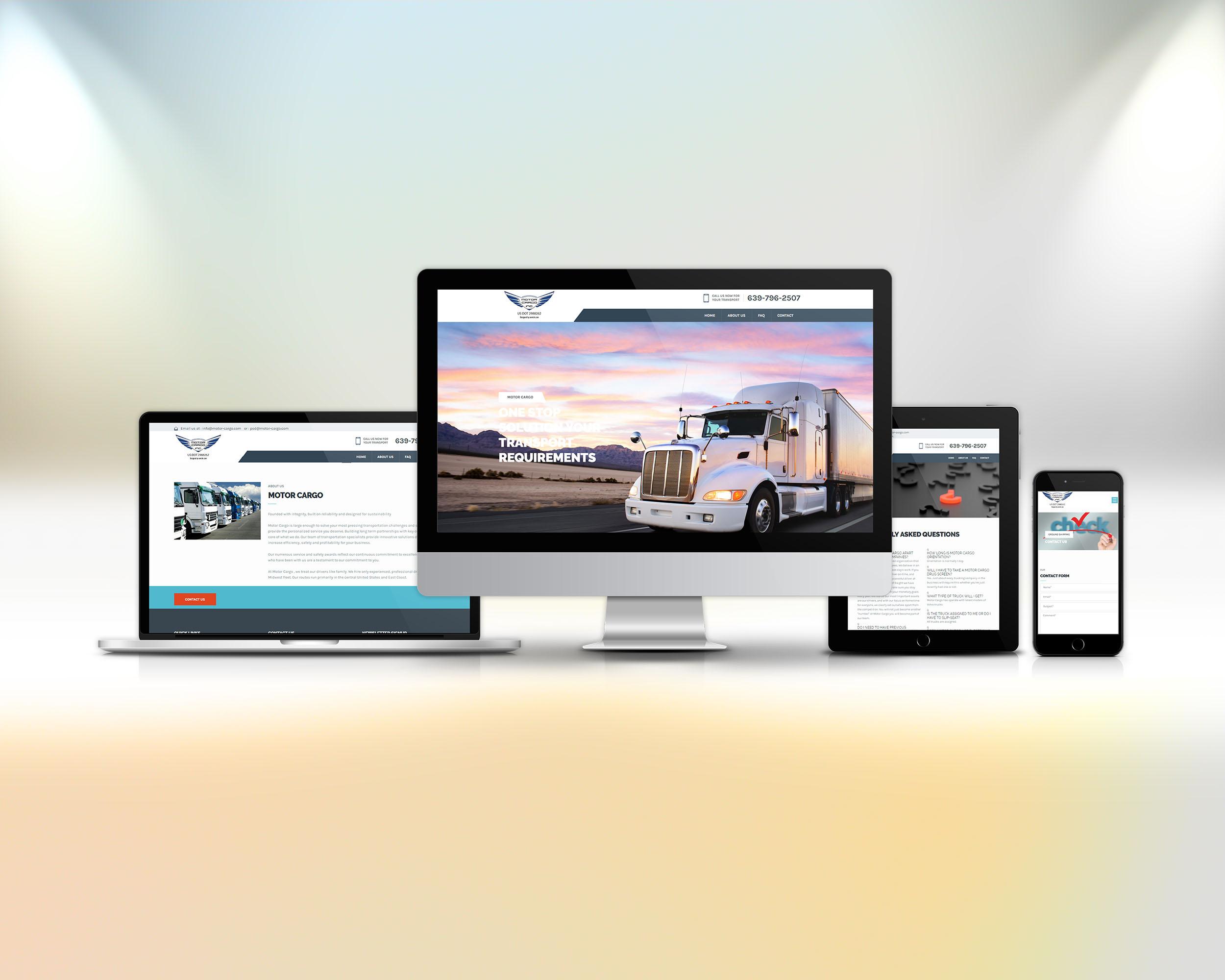 Motor Cargo izrada sajta za tablete i telefone