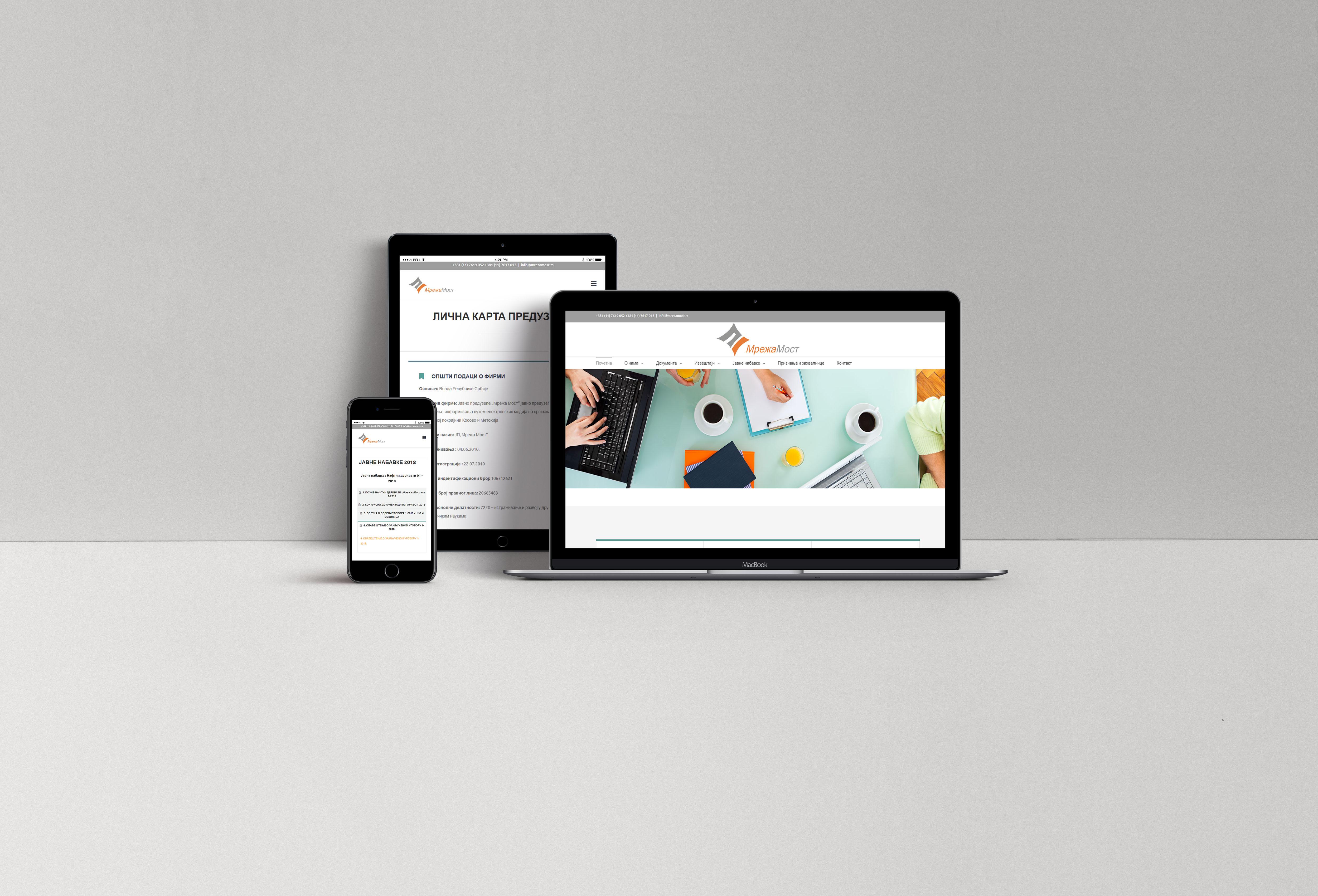 Izrada poslovnog web sajta