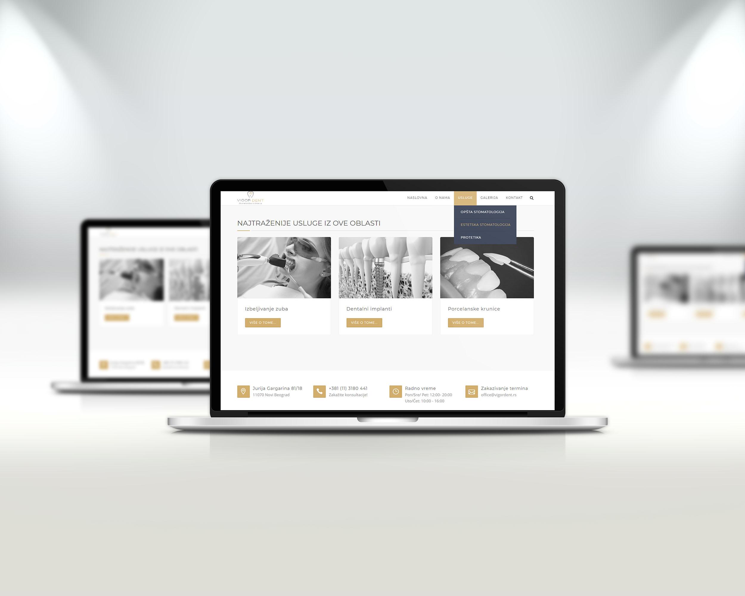 Izrada sajta za stomatolosku ordinaciju