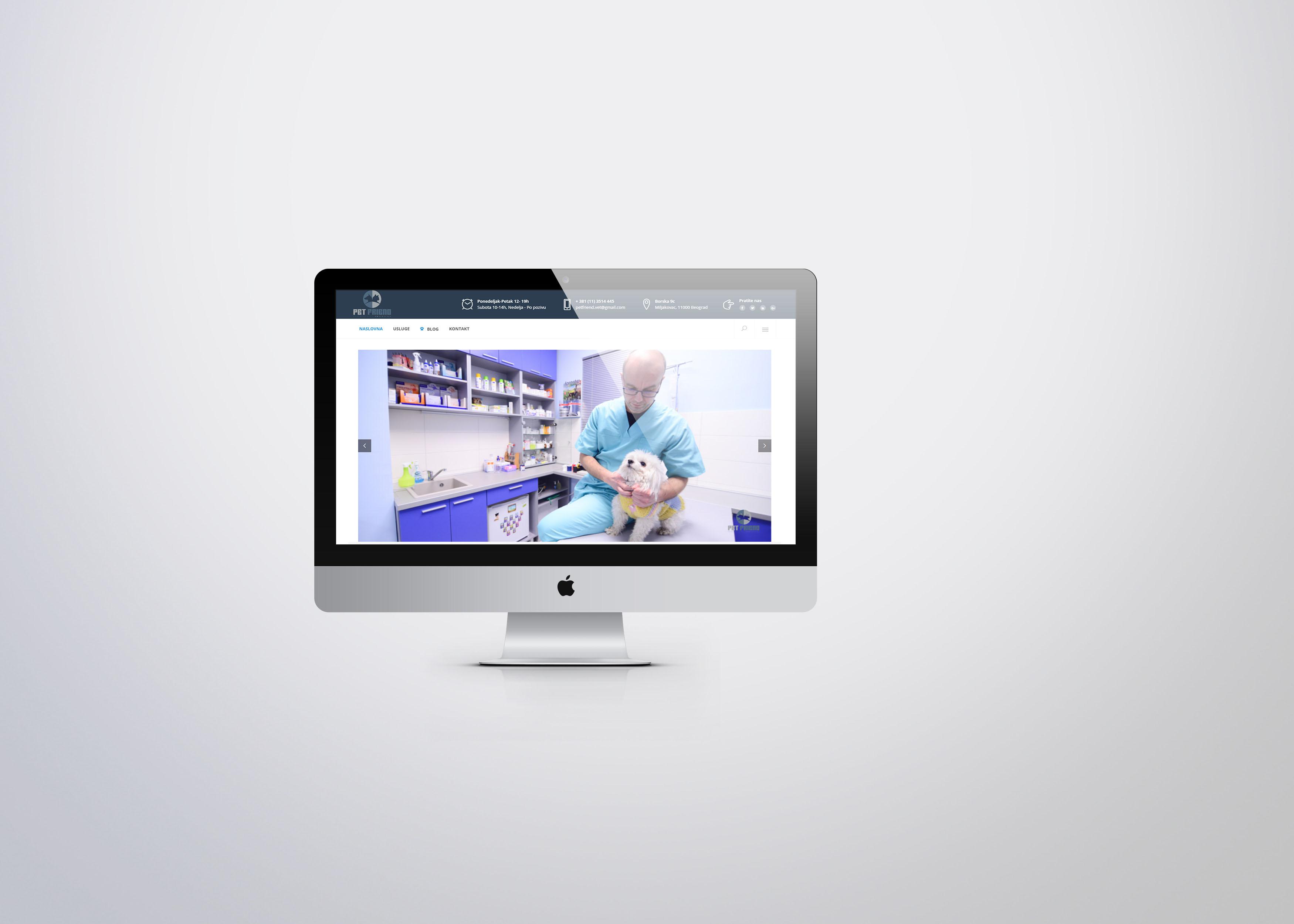 Izrada web sajta za veterinarsku ordinaciju