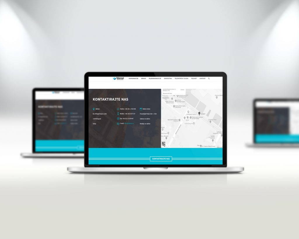 Izrada web sajta za telekomunikacionu kompaniju