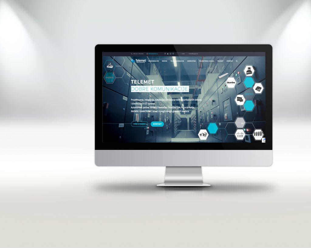 Izrada web sajta za telekomunikacionu kompaniju Telemet