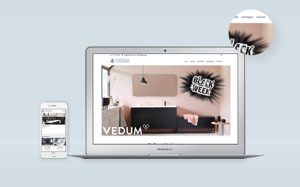 Sandvika VVS Senter izrada web sajta