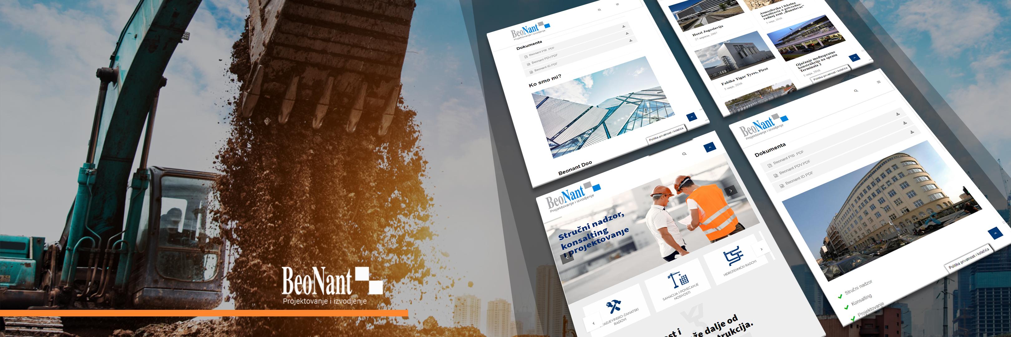 Izrada WordPress sajta za gradjevinsku firmu Beonant